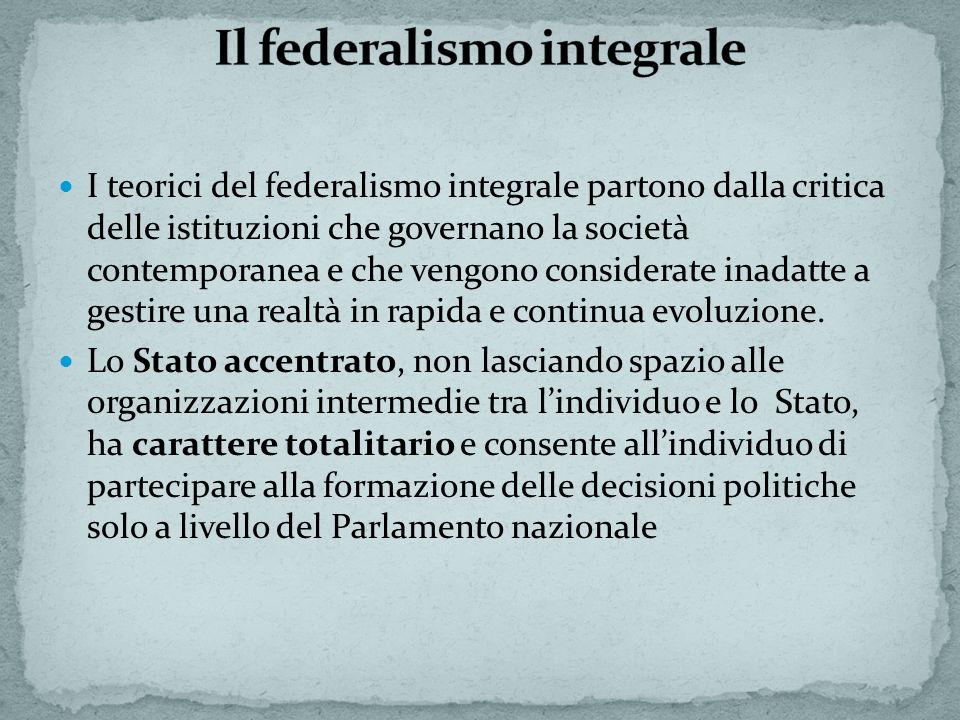 Il federalismo integrale