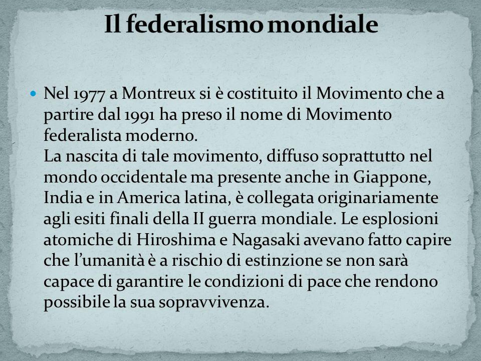 Il federalismo mondiale
