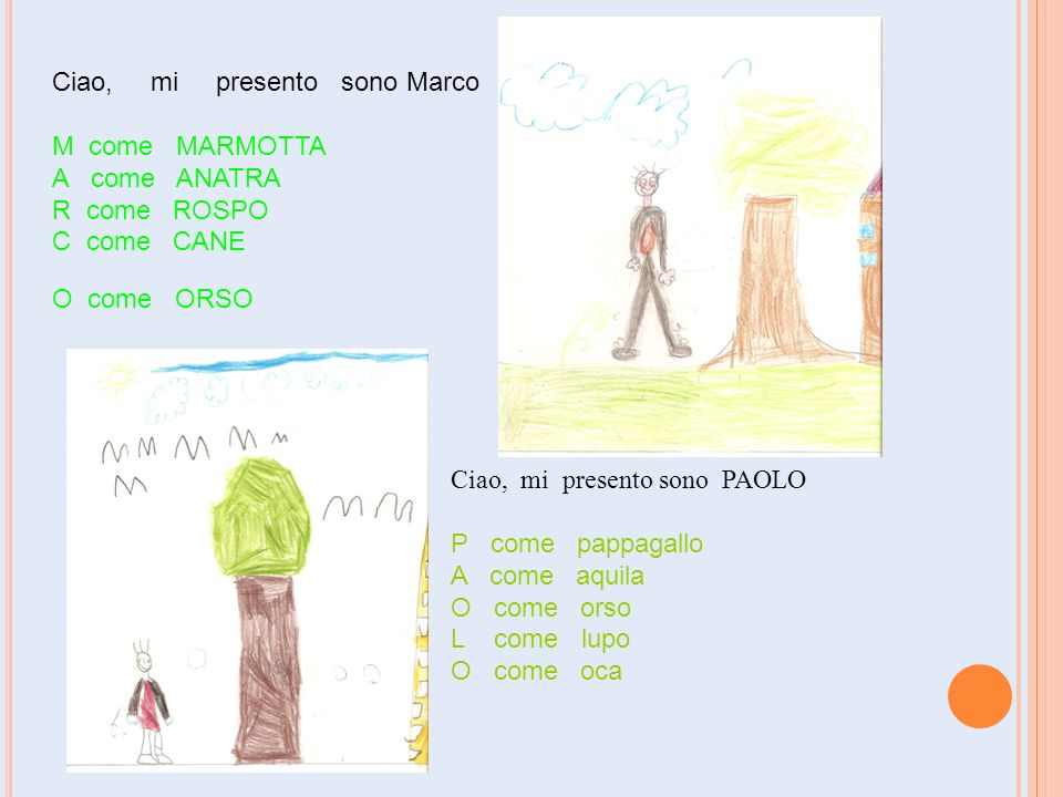 Ciao, mi presento sono Marco