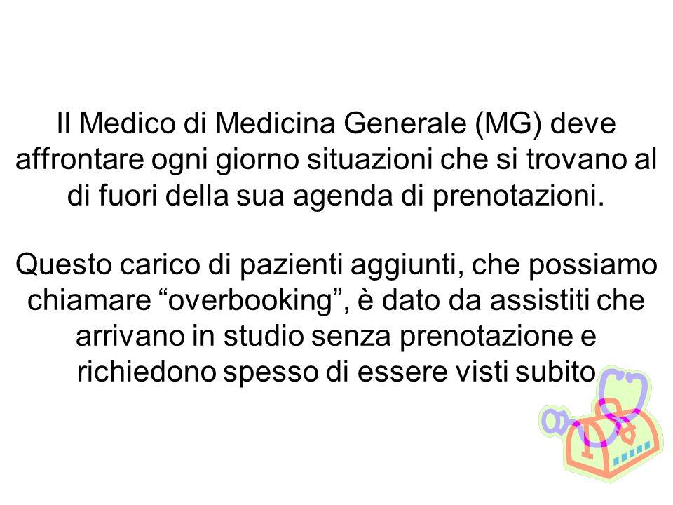 Il Medico di Medicina Generale (MG) deve affrontare ogni giorno situazioni che si trovano al di fuori della sua agenda di prenotazioni.