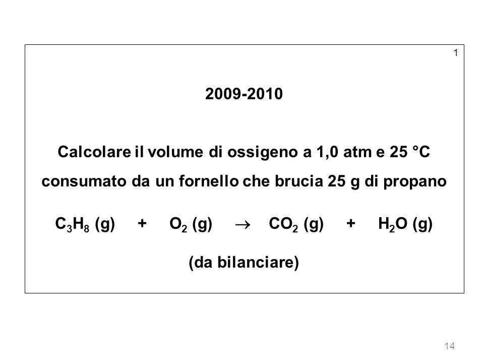 C3H8 (g) + O2 (g)  CO2 (g) + H2O (g)