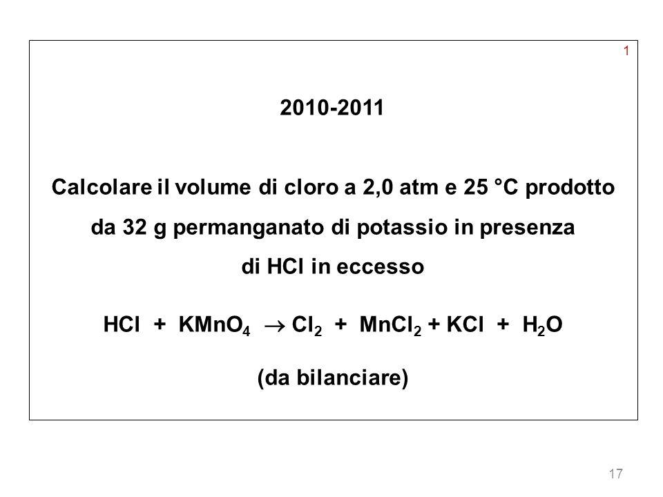 HCl + KMnO4  Cl2 + MnCl2 + KCl + H2O