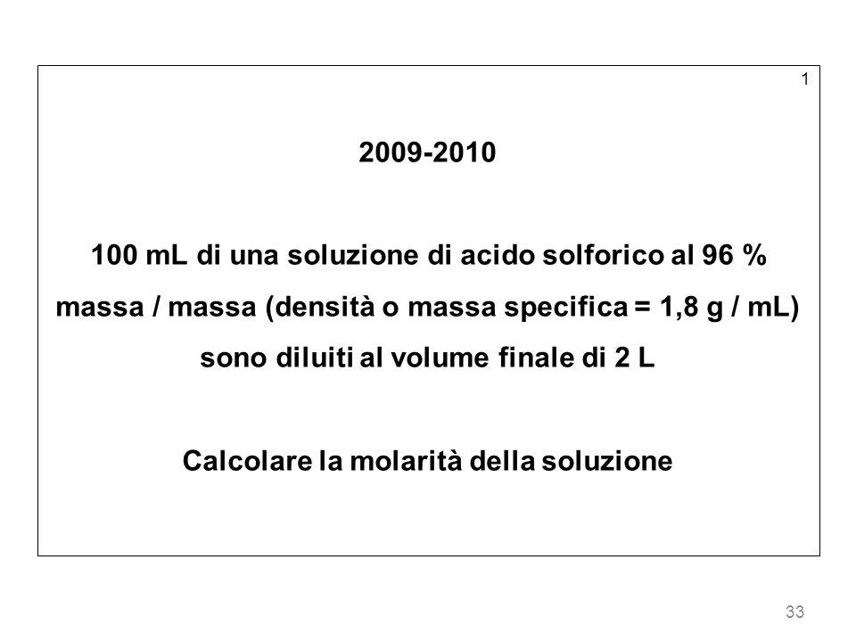 Calcolare la molarità della soluzione