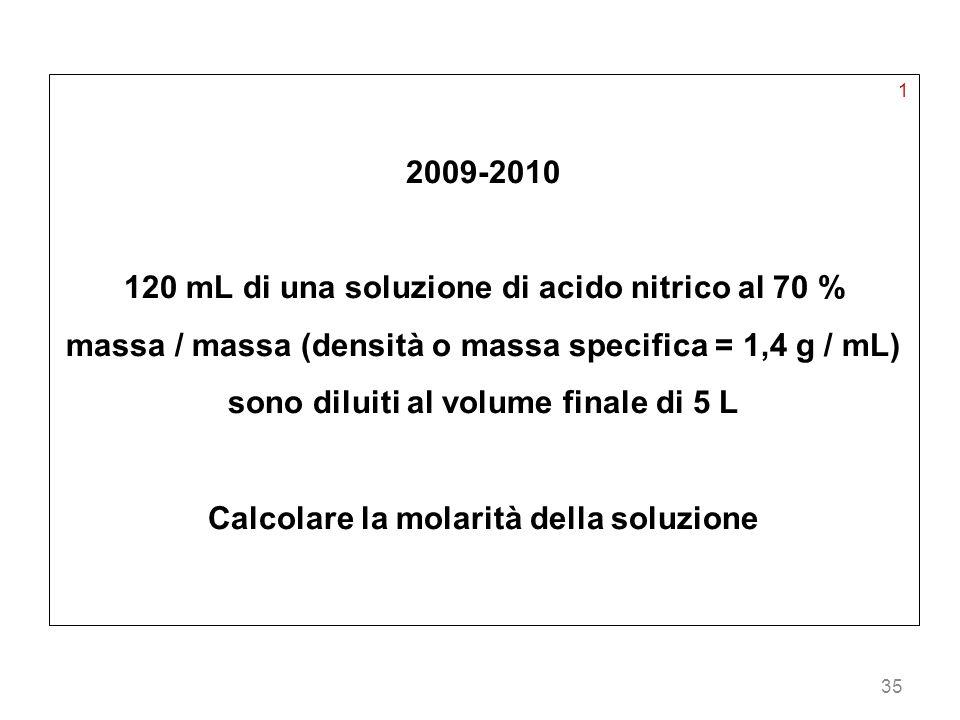 120 mL di una soluzione di acido nitrico al 70 %