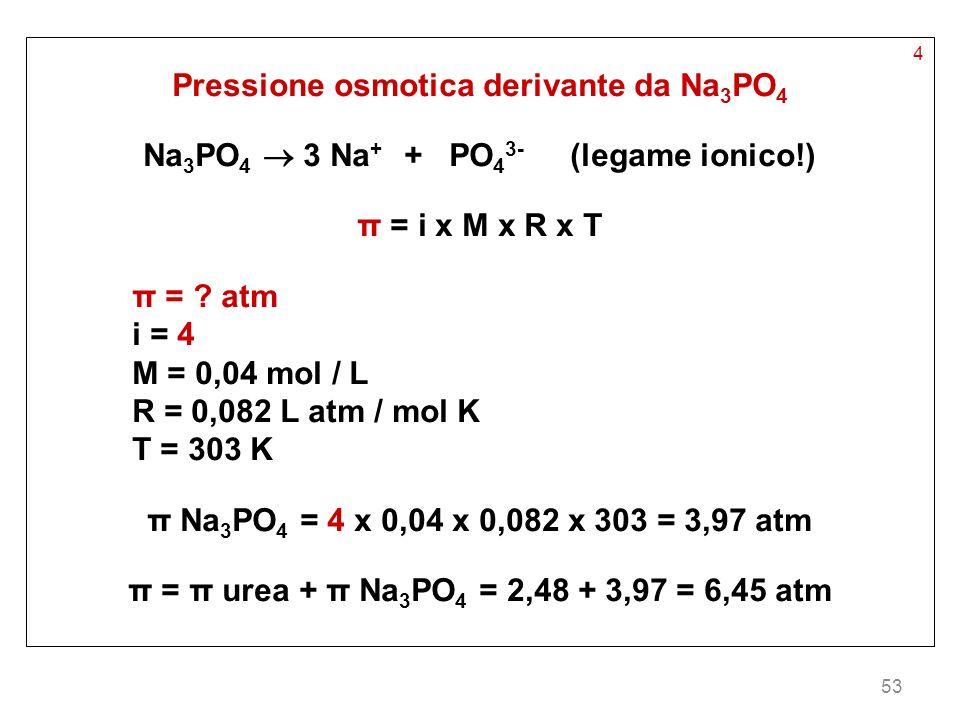 Pressione osmotica derivante da Na3PO4