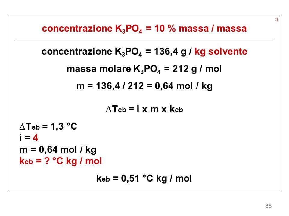 concentrazione K3PO4 = 10 % massa / massa