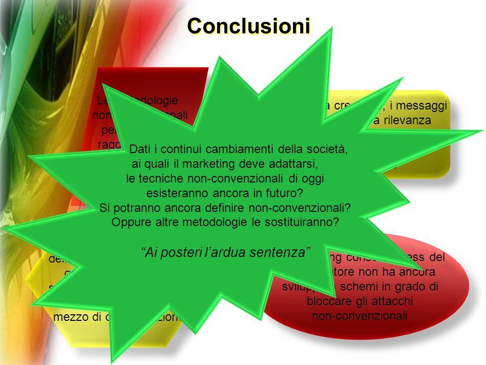 Conclusioni Ai posteri l'ardua sentenza Le metodologie