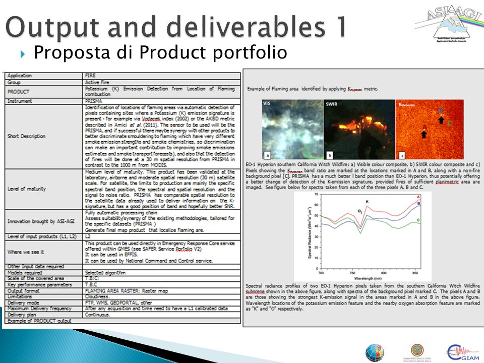 Output and deliverables 1