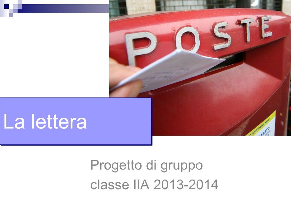 Progetto di gruppo classe IIA 2013-2014
