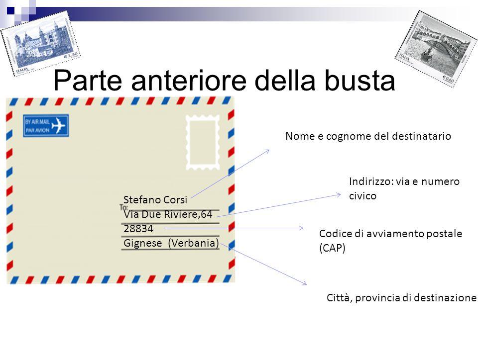 Progetto di gruppo classe iia ppt scaricare for Indirizzo postale