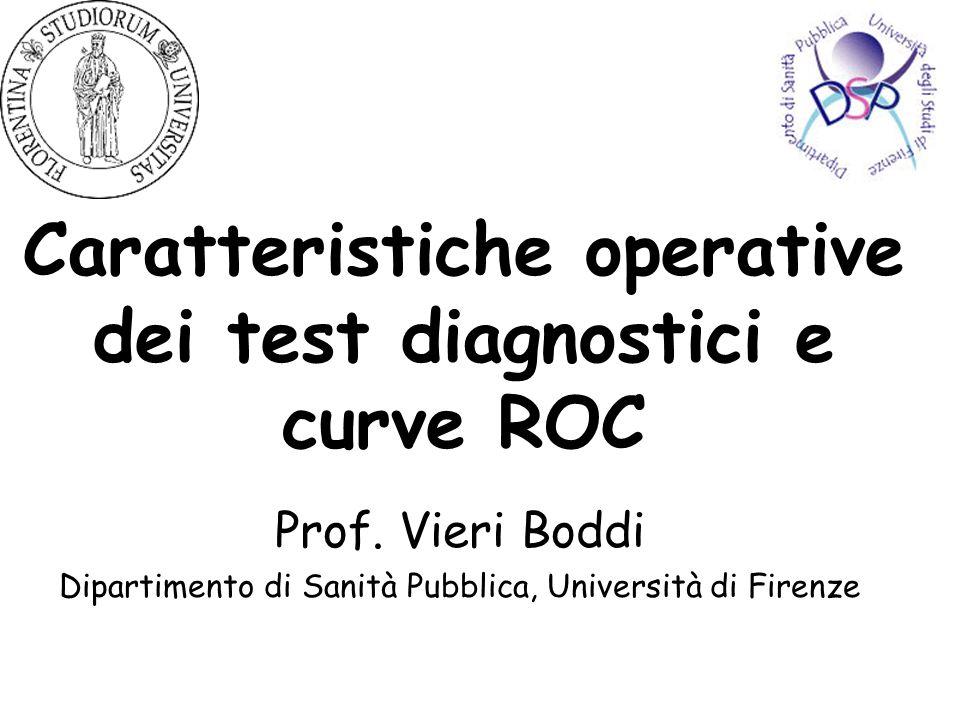 Caratteristiche operative dei test diagnostici e curve ROC