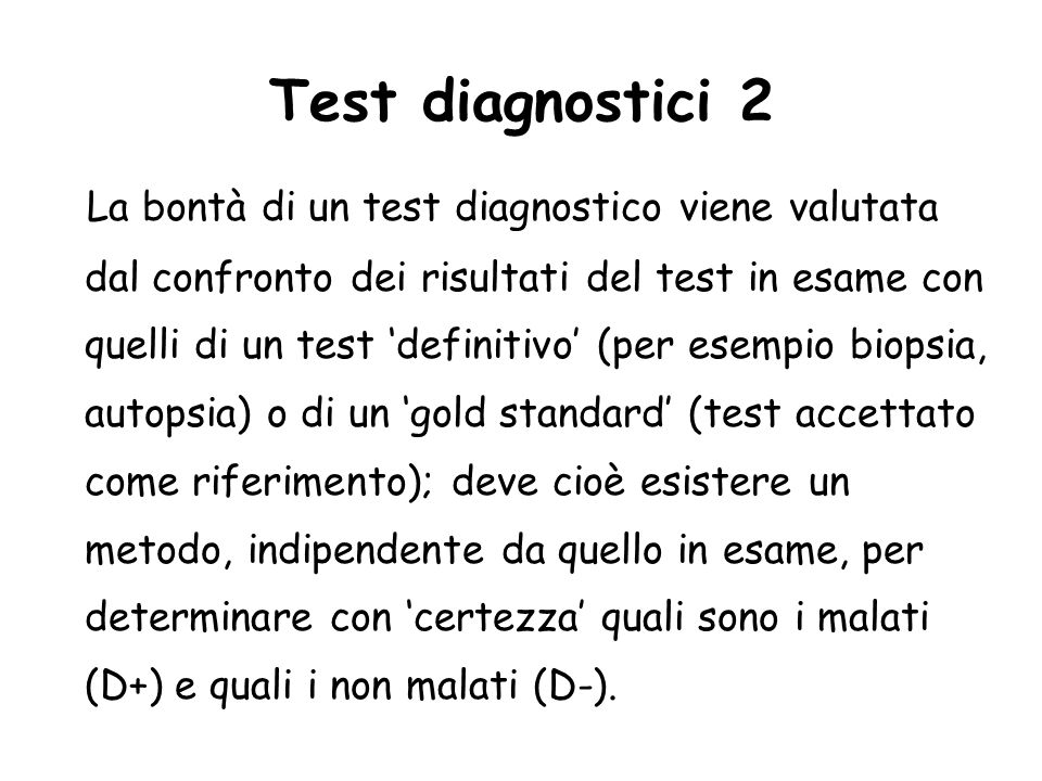 Test diagnostici 2