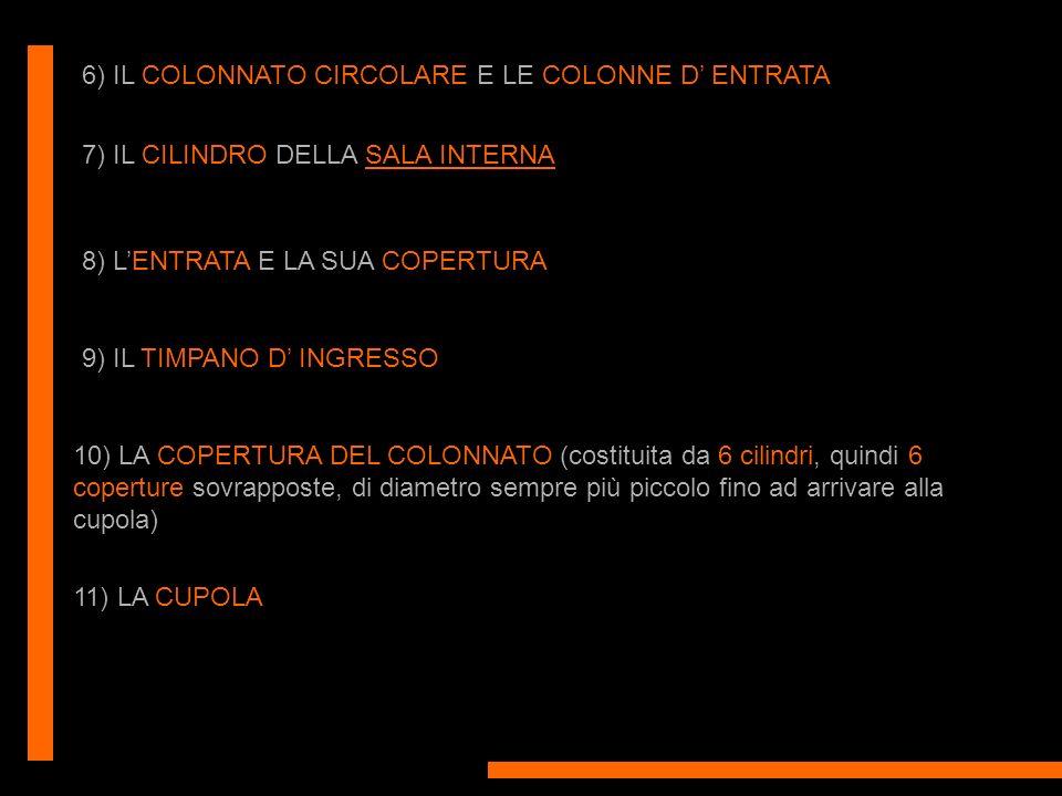 6) IL COLONNATO CIRCOLARE E LE COLONNE D' ENTRATA