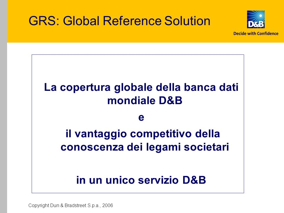 GRS: Global Reference Solution
