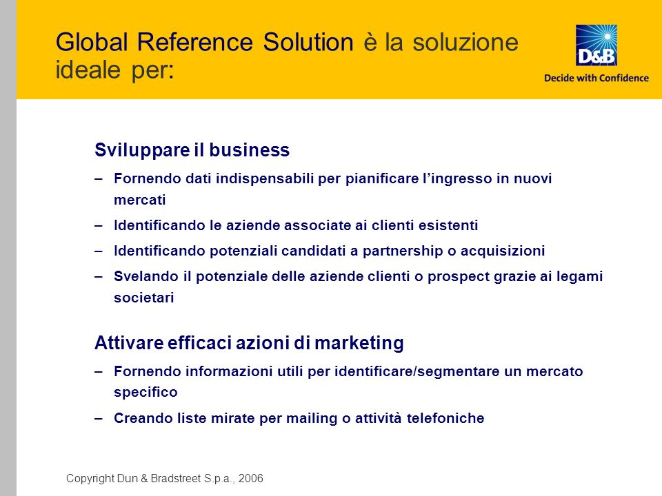 Global Reference Solution è la soluzione ideale per: