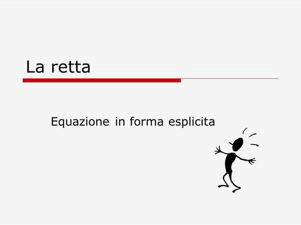 Equazione in forma esplicita