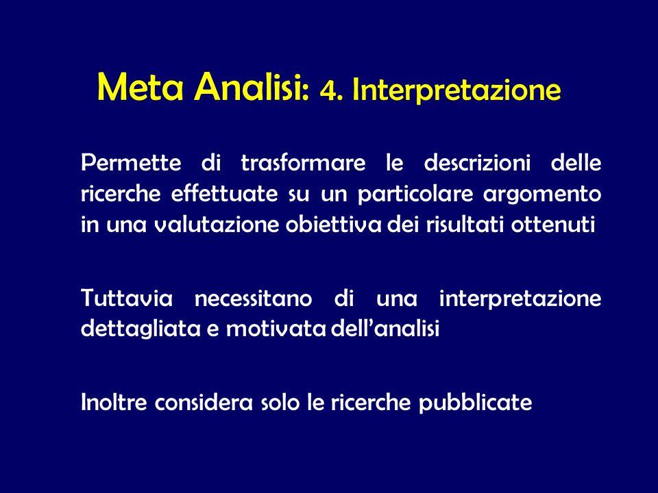 Meta Analisi: 4. Interpretazione
