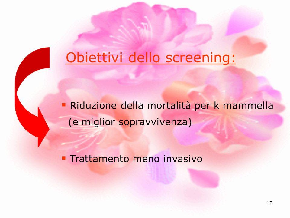 Obiettivi dello screening:
