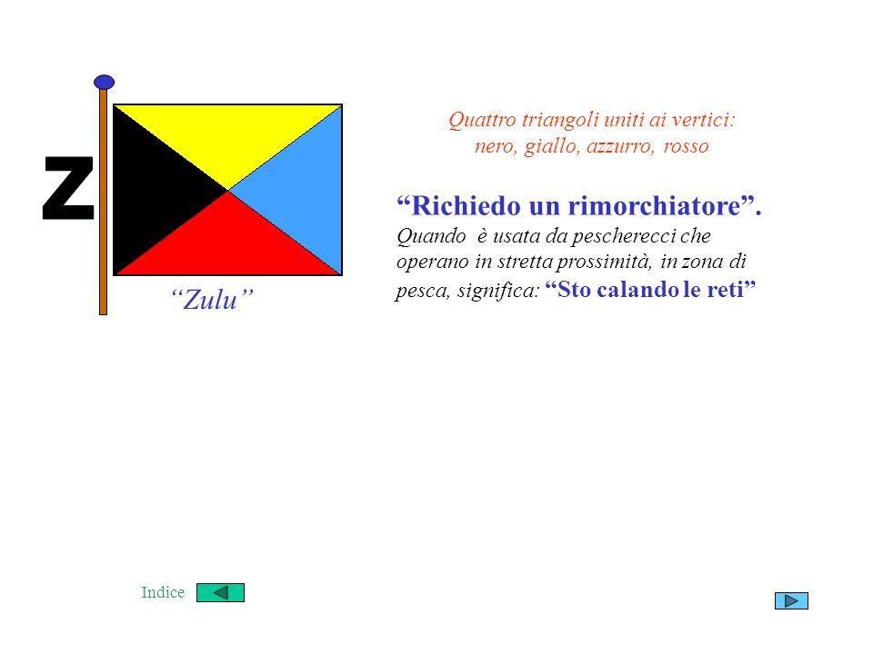 Quattro triangoli uniti ai vertici: nero, giallo, azzurro, rosso