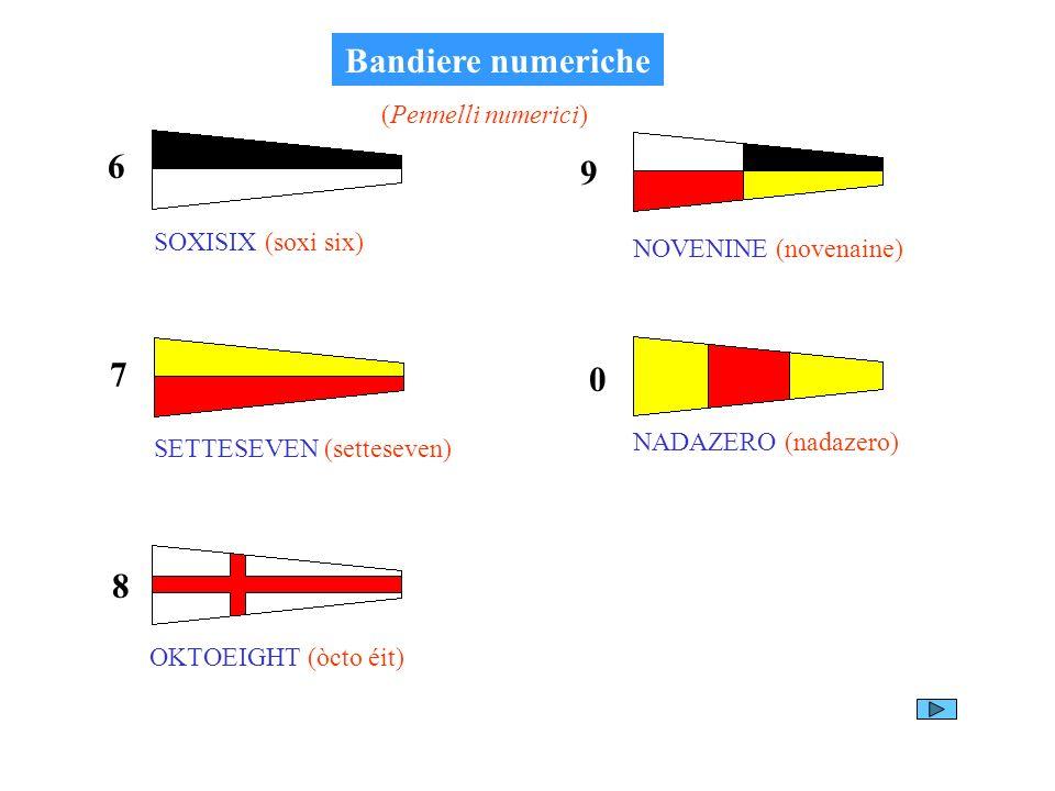 Bandiere numeriche 6 9 7 8 (Pennelli numerici) SOXISIX (soxi six)