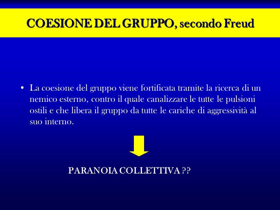 COESIONE DEL GRUPPO, secondo Freud