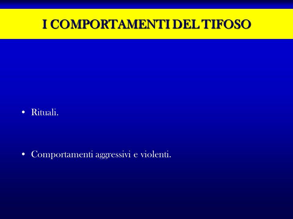 I COMPORTAMENTI DEL TIFOSO