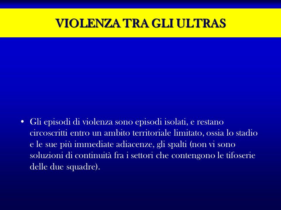 VIOLENZA TRA GLI ULTRAS