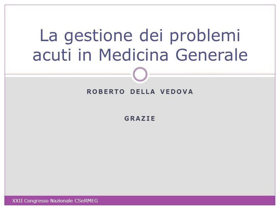 La gestione dei problemi acuti in Medicina Generale