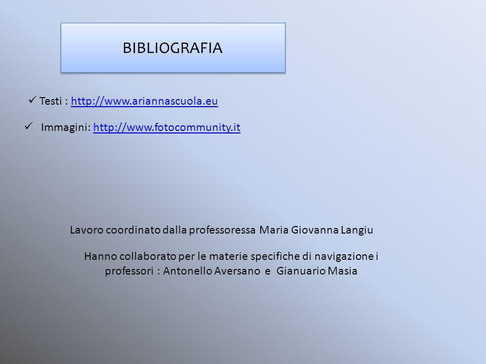 Lavoro coordinato dalla professoressa Maria Giovanna Langiu