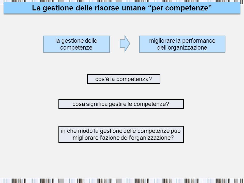 La gestione delle risorse umane per competenze