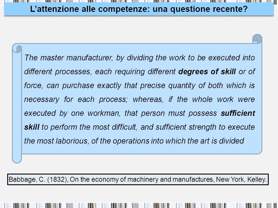 L'attenzione alle competenze: una questione recente