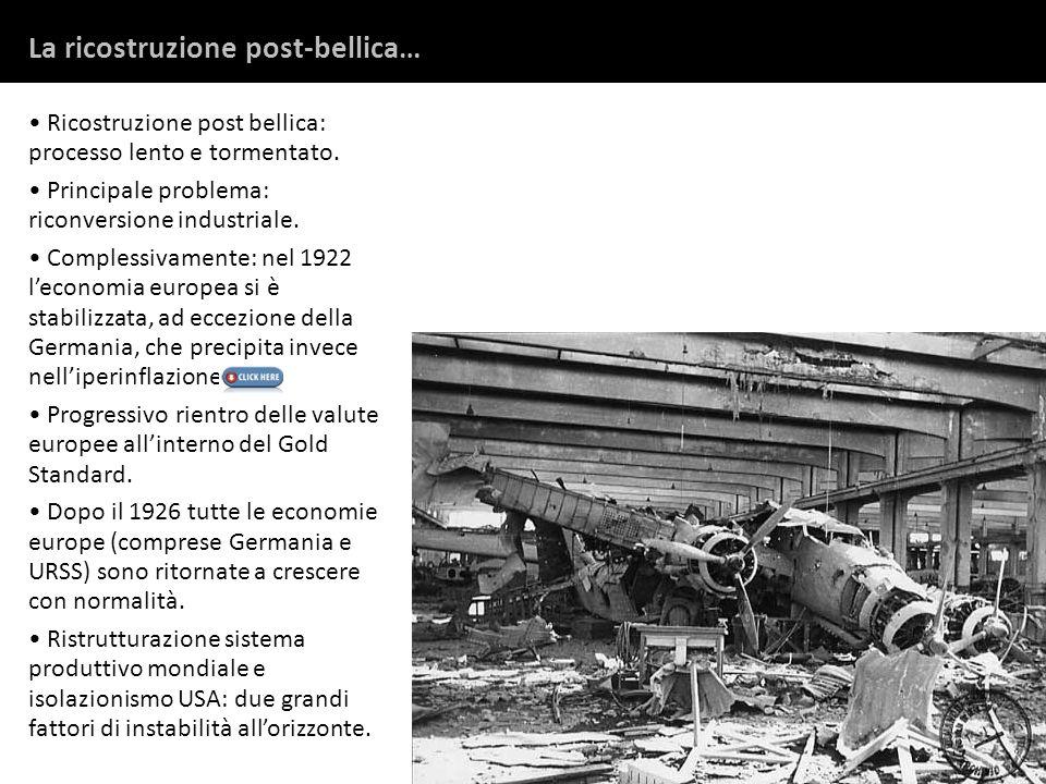La ricostruzione post-bellica…