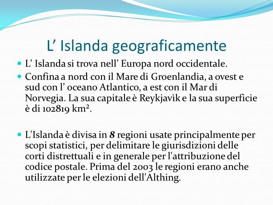 L' Islanda geograficamente