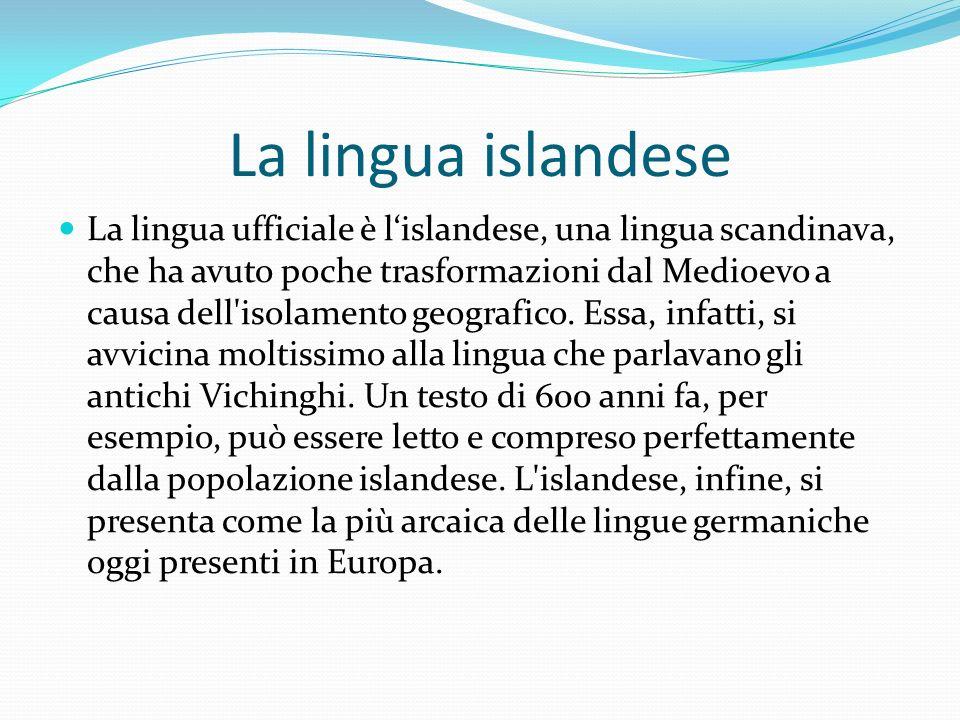 La lingua islandese