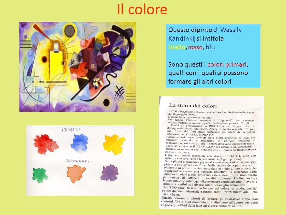 Il colore Questo dipinto di Wassily Kandinkij si intitola Giallo,rosso, blu.