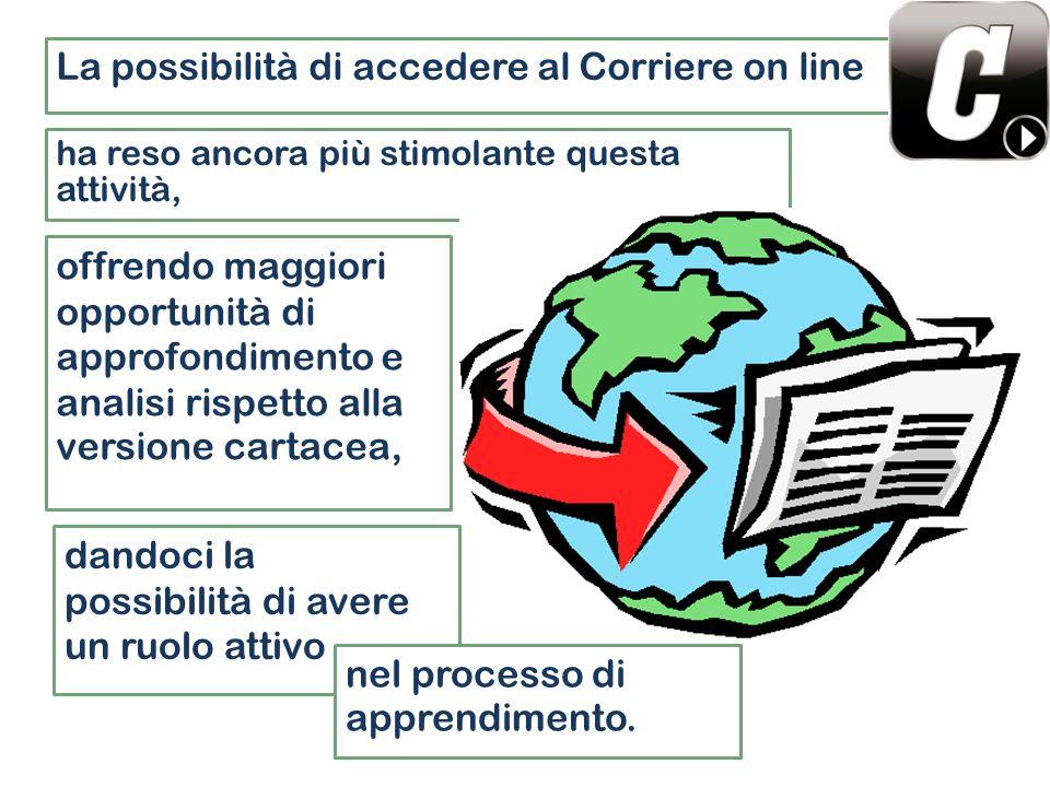 La possibilità di accedere al Corriere on line