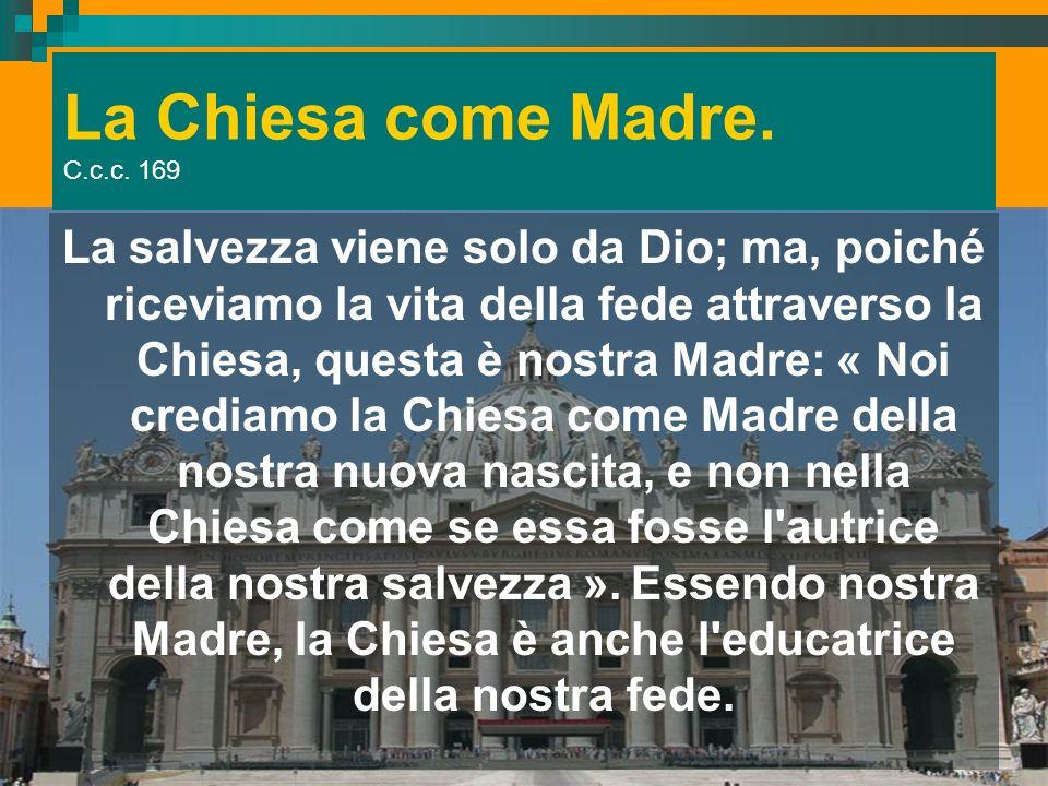 La Chiesa come Madre. C.c.c. 169