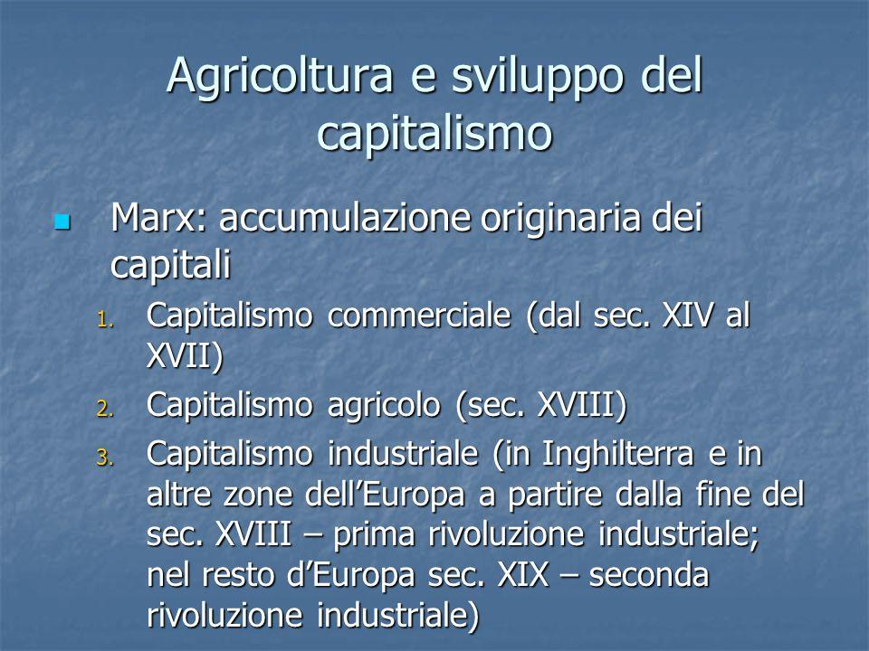Agricoltura e sviluppo del capitalismo