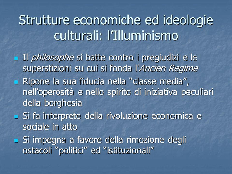 Strutture economiche ed ideologie culturali: l'Illuminismo