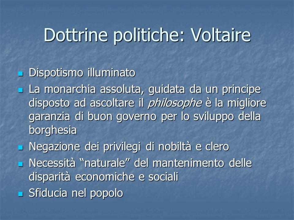 Dottrine politiche: Voltaire