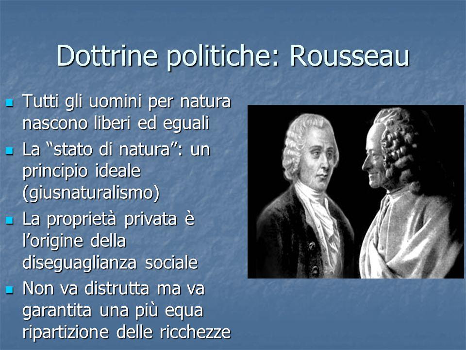 Dottrine politiche: Rousseau