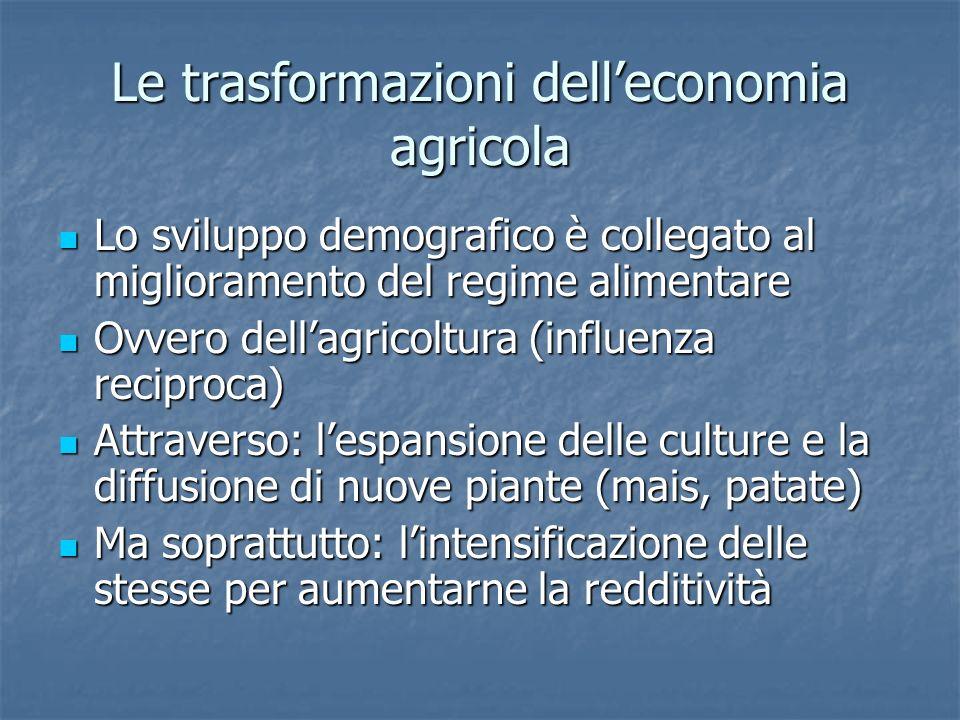 Le trasformazioni dell'economia agricola