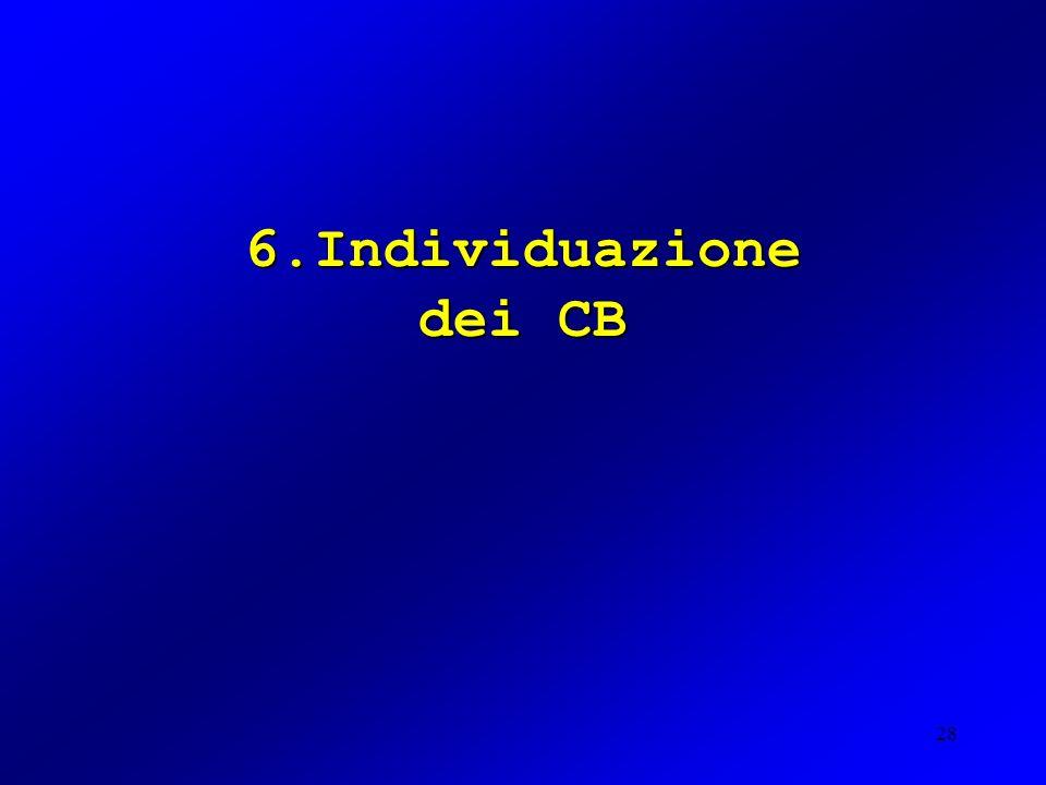 6.Individuazione dei CB