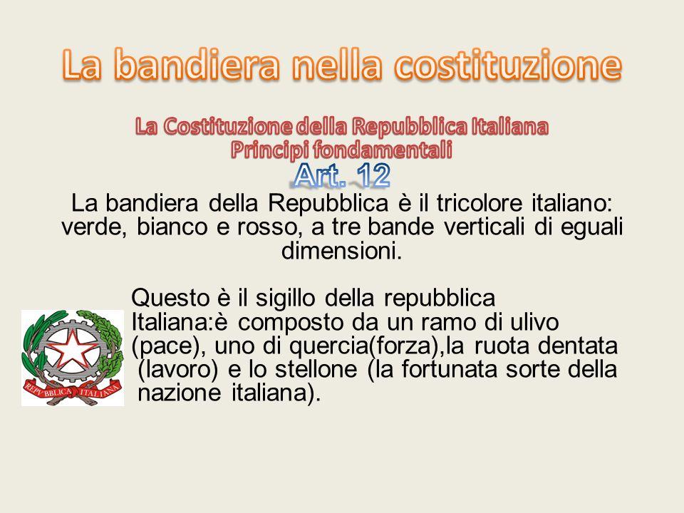 La bandiera nella costituzione