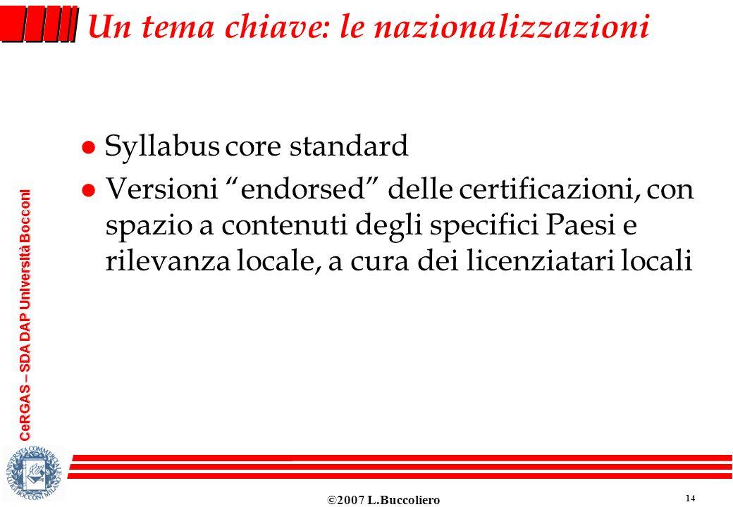 Un tema chiave: le nazionalizzazioni