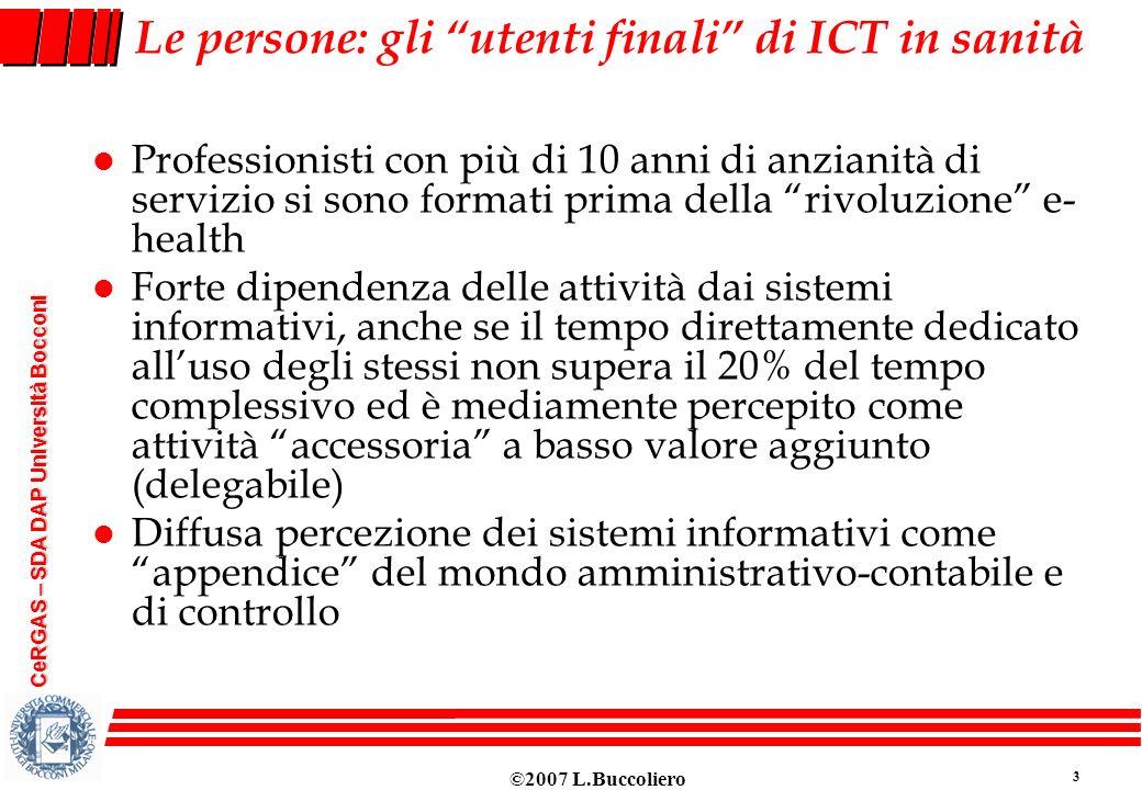 Le persone: gli utenti finali di ICT in sanità