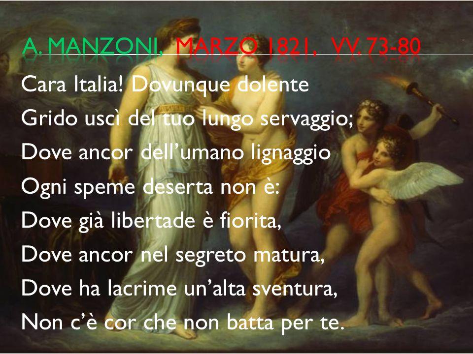a. manzoni, marzo 1821, vv. 73-80