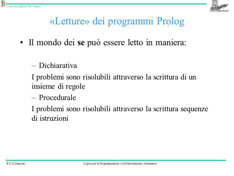 «Letture» dei programmi Prolog