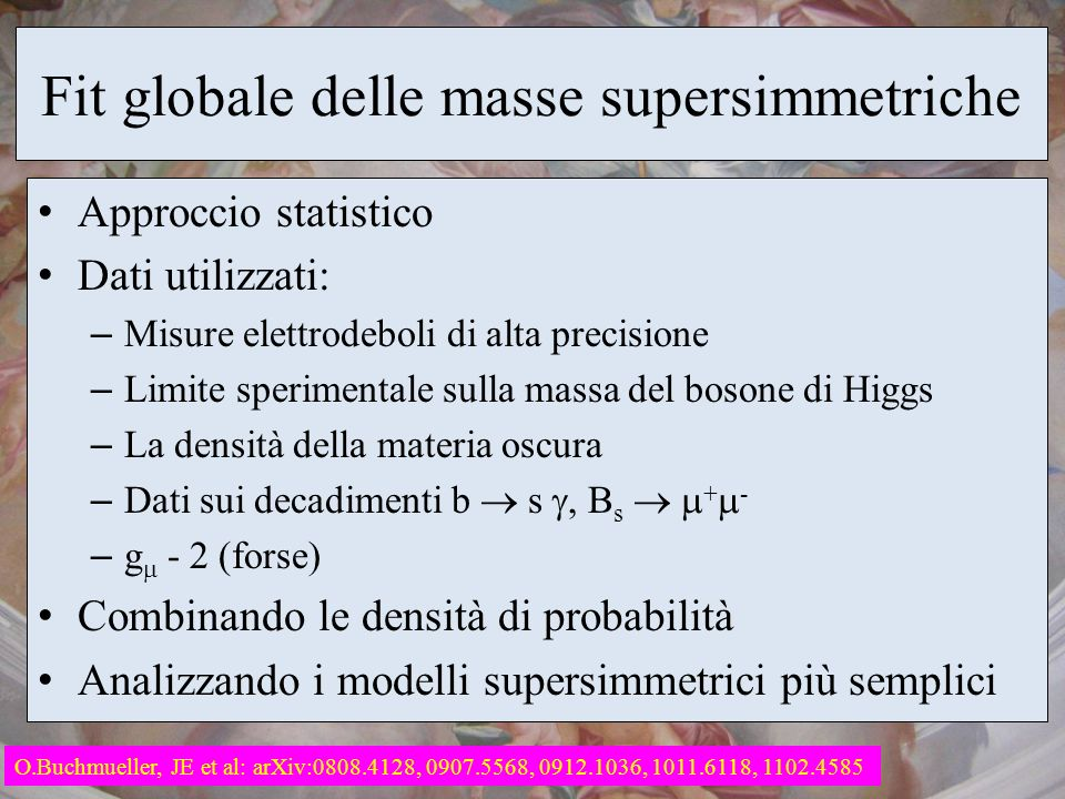 Fit globale delle masse supersimmetriche