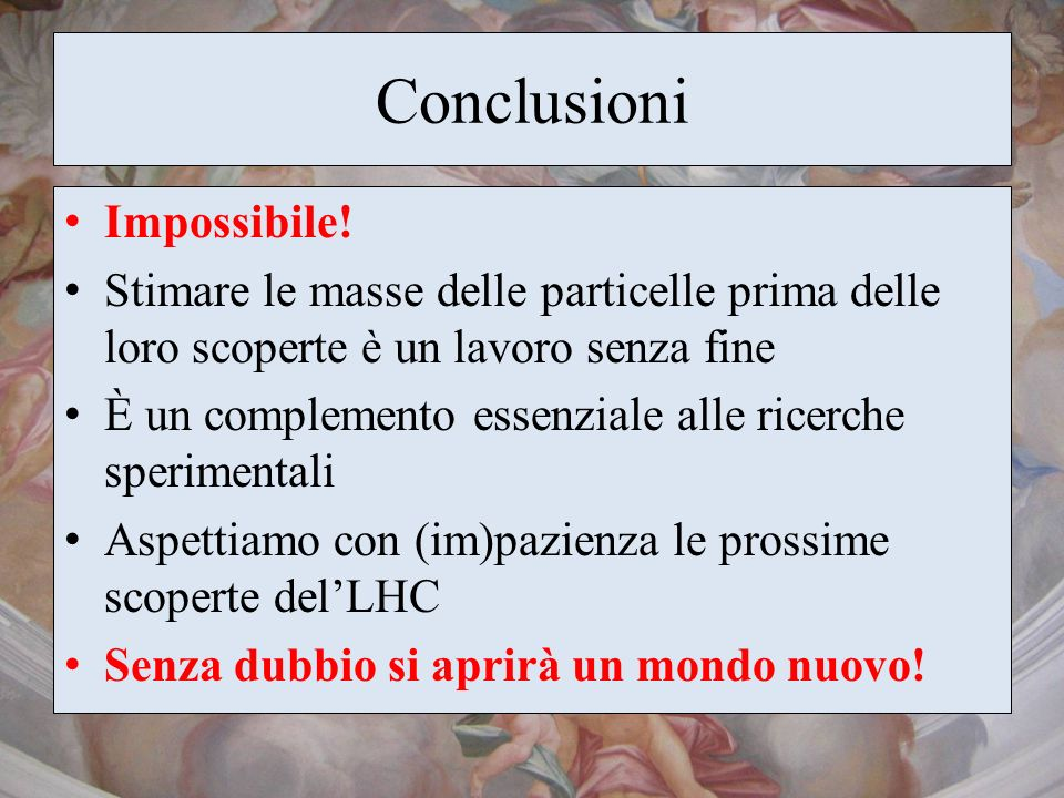 Conclusioni Impossibile!